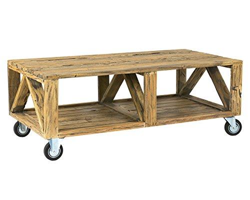 - East At Main Boone Brown Rectangular Mahogany Coffee Table, (47x24x17)