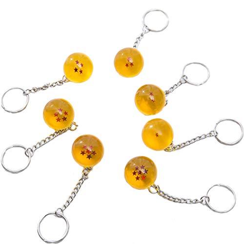 Anime Collectibles 7pcs/set 2.5cm Dragon Ball New In Bag 7 Stars Crystal Balls Keychain Pendant Unisex Stars Acrylic Transparent Play Balls