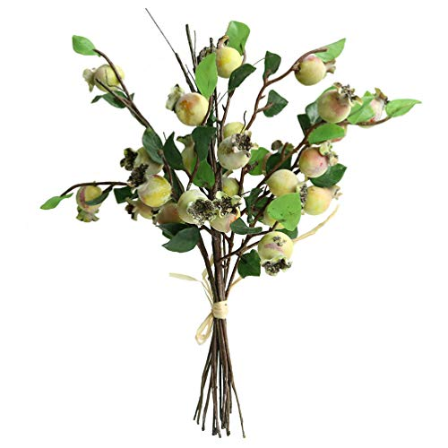Htmeing Group of 5 Artificial Rosehip Berries Flower Stem Spray Christmas Picks 13
