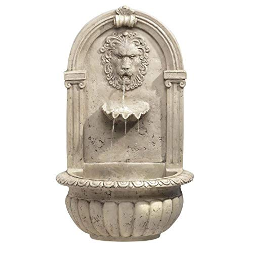 (Backyard Fountain, Designers Courtyard Lion Heads Wall Outdoor Garden Fountains)