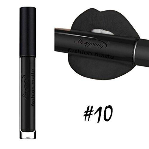 Gocheaper Matte Velvet Matte Lip Gloss Lip Glaze,Liquid Lipstick Moisturizer Lipstick Cosmetic Beauty Makeup (J)