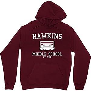 Hawkins Middle School Av Club Hoodie Hooded Sweatshirt Stranger