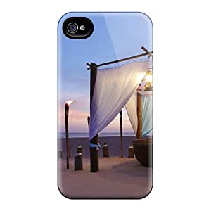 New Diy Design Romantic Beach Dining For Iphone 4/4s Cases Comfortable For Lovers And Friends For Christmas Gifts