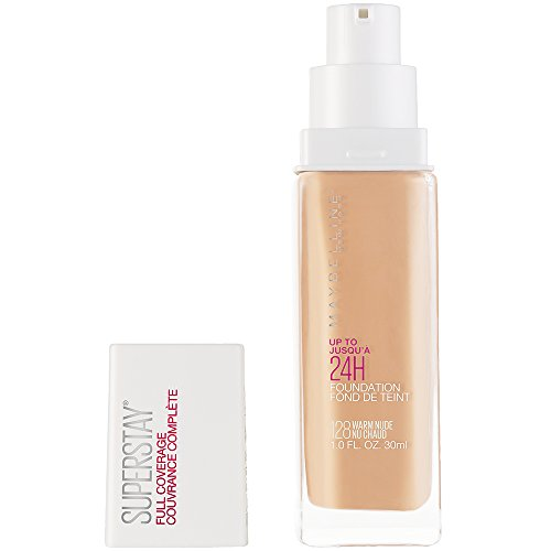 Maybelline New York Super Stay Full Coverage Liquid Foundation Makeup, Warm Nude, 1 fl. oz.