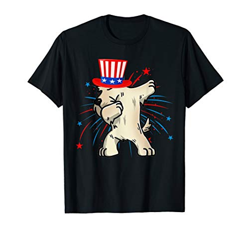 - Dabbing Scottish Terrier USA Hat Firework 4th Of July Tshirt