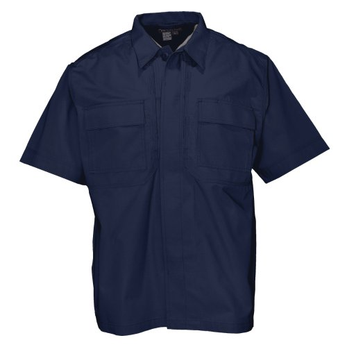 5.11 Tactical #71001 Men's Ripstop TDU Short Sleeve Shirt (Dark Navy, (5.11 Tactical Cotton Uniform)