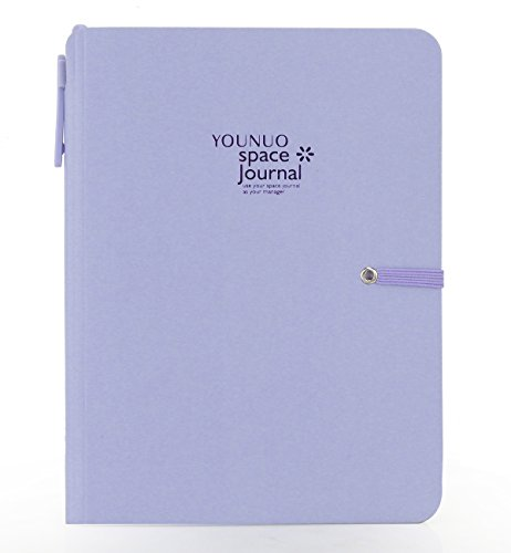 Premium Quality Thick Writing Notebook Planner with Ballpen A5 Fun Colorful Journal Diary Classic Eco-Friendly Hardcover Executive Lined Paper Hard Bound Back to School(Lavender)