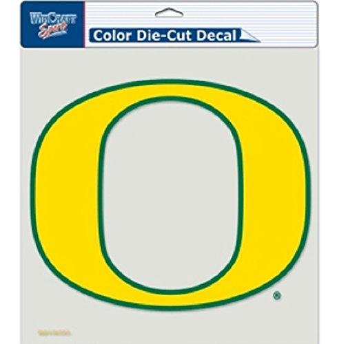 Oregon Ducks NCAA Perfect Cut Decal Vinyl Auto Car Window Color Team Logo 8x8 ()