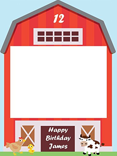 Custom Barnyard Farm Photo Booth Prop - Sizes 36x24, 48x36; Personalized barn Birthday, Farm party, Animal Kids Birthday Photo Booth Frame, selfie frame; Handmade Realtor Estate Decor photo props