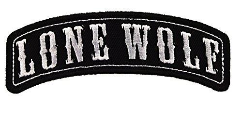 LONE WOLF Rocker Embroidered Jacket Vest Patch Funny Emblem Independent Motorcycle Biker