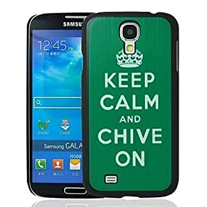Keep Calm And Chive On Pattern Plastic Hard Protective Case for Samsung Galaxy S4 i9500