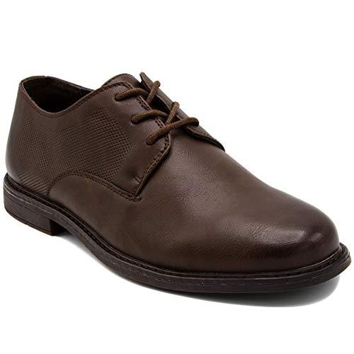 London Fog Mens Portland Dress Shoe Brown 9.5