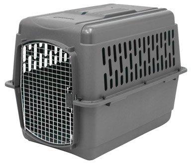Aspen Pet Porter Heavy-Duty Pet Carrier,Dark Gray/Black,30-50 LBS by Petmate
