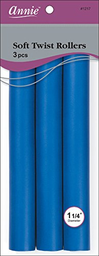 (Annie Soft Twist Rollers, Blue, 3 Count)