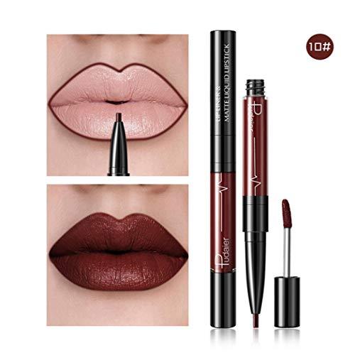 HHBack Double-End Lasting Lipliner Waterproof Lip Liner Stick Pencil 16 Color