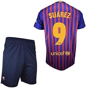 Conjunto Camiseta y Pantalon 1ª Equipación 2018-2019 FC. Barcelona - Réplica Oficial Licenciado: Amazon.es: Deportes y aire libre