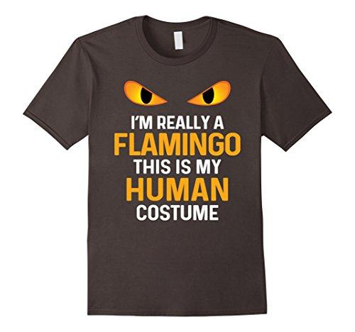 Mens Flamingo Halloween Shirt Funny Costume 2XL Asphalt - Flamingo Halloween Costume Ideas