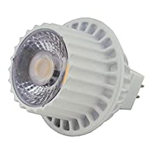 LEDwholesalers MR16 12V 8W LED Narrow Angle Spot Light Bulb, 50W Equivalent, for Landscape, Recessed, and Track Lighting, White, 1243WW