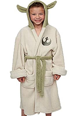 Vcos Star Wars Yoda Jedi Ears Fleece Bathrobe Kids Robe