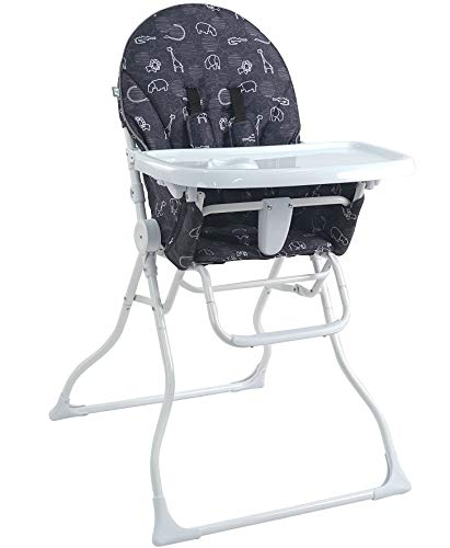 Pamo Babe Portable Fold High Chair (Black&White)