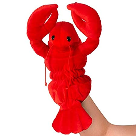 12 Friendly Adorable Plush Hand-Puppet Pretend Play for Children and Adults Theater Story-Telling (Puppy Dog) Giftable World