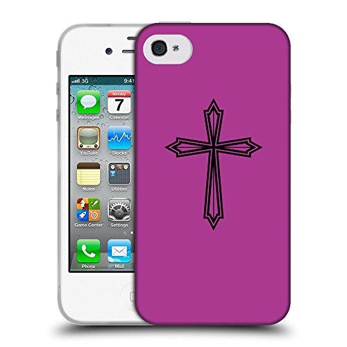 GoGoMobile Coque de Protection TPU Silicone Case pour // Q07970621 Christian Cross 22 byzantin // Apple iPhone 4 4S 4G