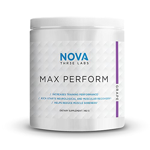 NOVA Three Labs   Max Perform   Powdered Preworkout Formula Designed to Maximize Performance and Reduce Fatigue During Training. (Grape)