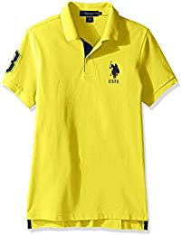 Men's Short Sleeve Solid Slim Fit Pique Shirt