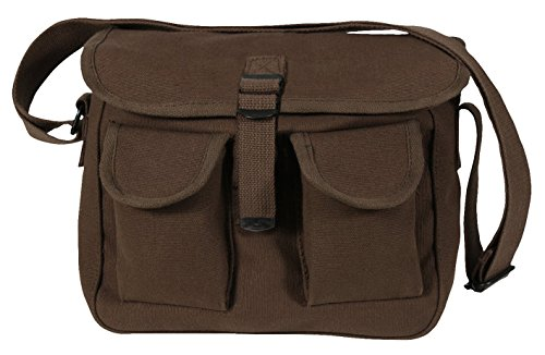 Rothco Canvas Ammo Shoulder Bag, Brown (Brown Canvas Bag)