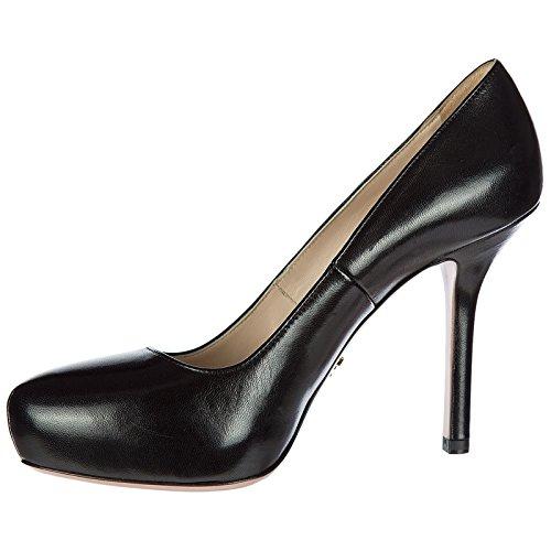 Prada à Femme Talon en Chaussures Noir Escarpins Cuir BCqUZ