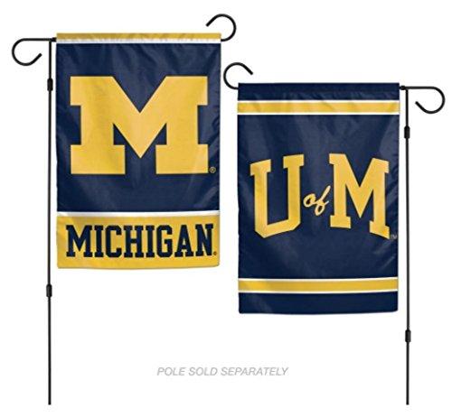 WinCraft NCAA Michigan Wolverines 12 x 18 inch 2-Sided Garden -