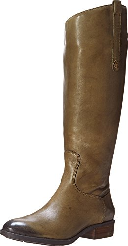 Sam Edelman Women's Penny 2 Wide Calf Leather Riding Boot Olive 11.5 M US ()