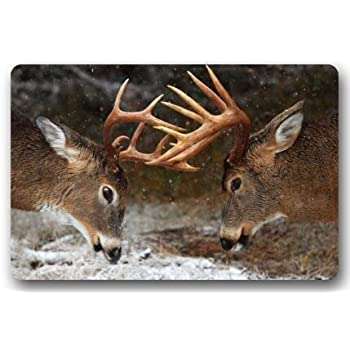 Amazon Com Door Mat Oil Painting Deer Art In Autumn