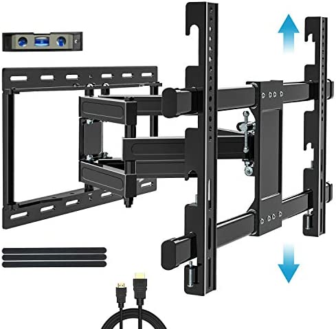 BLUE STONE Tilt TV Wall Mount Bracket for Most 32-83 Inch TVs, Full Motion Swivel Articulating Arm Mounting, VESA Up to 99lbs, Low Profile, LED OLED Flat Screen Curved TV, Hight Adjustment Design
