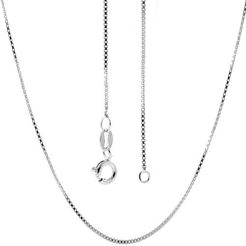6e8dd9d922e9b Amazon.com  Italian Sterling Silver Box Chain 14