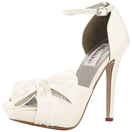 Davids Bridal Jay Dyeable Platform Peep Toe Estilo De Bomba Jay Nupcial Light Ivory
