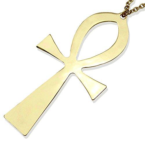 Vintage egyptian pendants amazon gold plated vintage egyptian cleopatra symbol of life big ankh cross pendant long chain sweater necklace34 aloadofball Choice Image