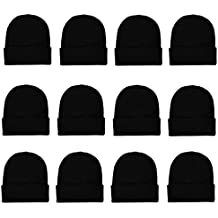 Gelante Unisex Beanie Cap Knitted Warm Solid Color and Multi-Color Multi-Packs