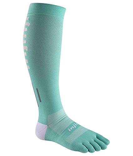 - Injinji Women's Ultra Compression OTC Sock (Medium/Large, Jade)