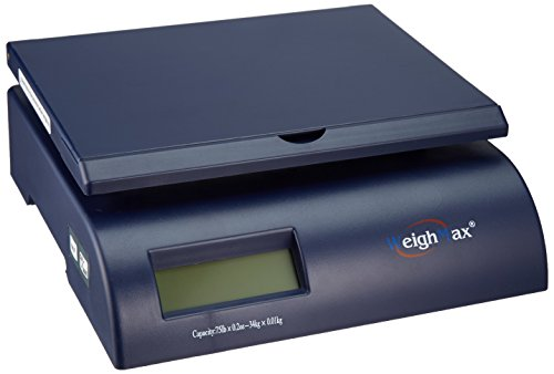 WeighMax Postal Shipping Scale with Battery and AC Adapte...