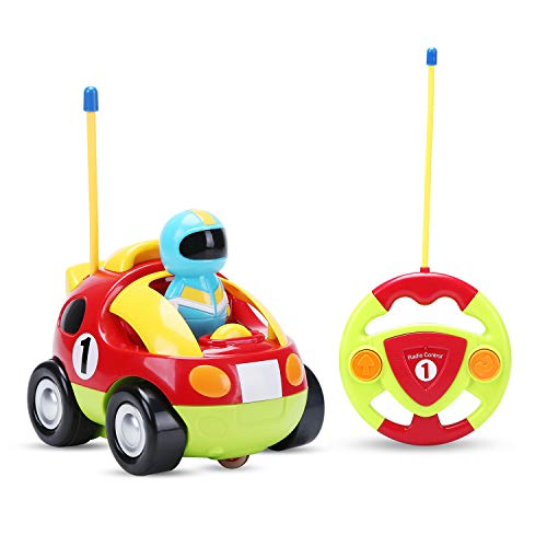Holy Stone RC Cartoon Race Car with Music & Lights Electric Radio Control Toy for Baby Toddlers Kids & Children]()