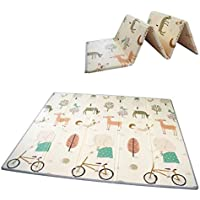 Baby Folding mat Play mat Extra Large Foam playmat Crawl mat Reversible Waterproof Portable Double Sides Kids Baby…