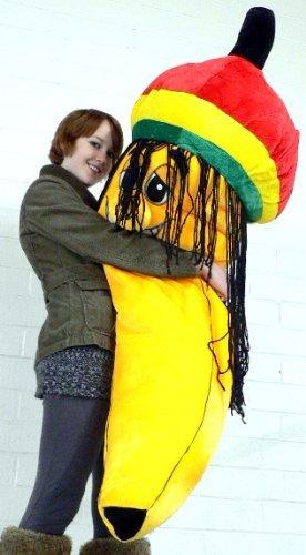 Giant Rasta Banana Plush Stuffed Toy Five And A Half Feet