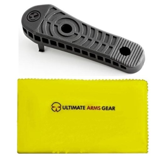 "Magpul MAG 317 Black Enhanced Buttstock Rubber Butt-Pad 0.70"" .7 "" Replacement Buttpad for the CTR MOE STR ACS-L ACS and UBR Stocks + Ultimate Arms Gear Lubricated Cleaning Cloth"