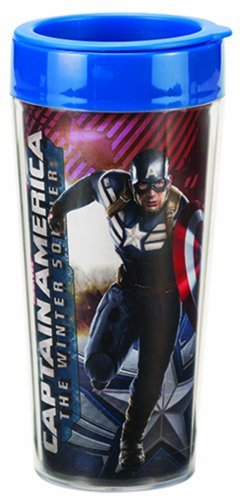 captain america glass cup - 5