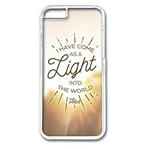iCustomonline As a Light Unique PC Transparent Hard Back Case Cover for iPhone 6 (4.7 inch)