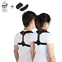 Upper Back Posture Corrector for Women Men, Adjustable Comfortable Clavicle Support to Improve Hunchback, Kyphosis, Computer Sitting, Shoulder Alignment, Upper Back Pain Relief
