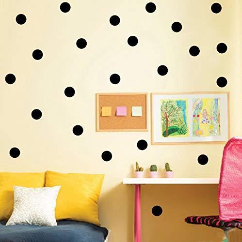 (TWJYDP Wall Stickers Wallstickers 90 Pcs Circle Children Home Decor DIY Vinyl Art Wall Decals Removable 3Cm)