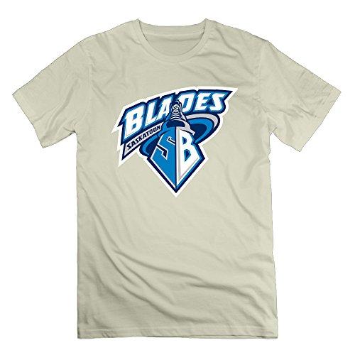 Saskatoon Blades Natural Men's Sport T Shirt For Man Size - Tom Pablo Ford
