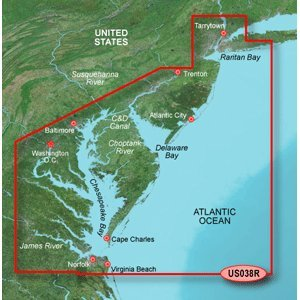 GARMIN VUS038R NEW YORK TO CHESAPEAKE BLUECHART G2 (Bluechart Map)